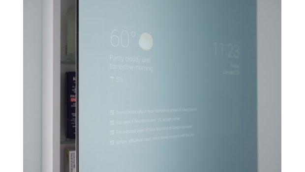 Smart Mirror mit Android (Foto: Max Braun)