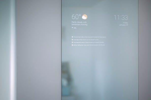Möglicher Einsatzzweck des Raspberry Pi 3 mit Android: Der Smart Mirror von Max Braun. (Foto: Max Braun)