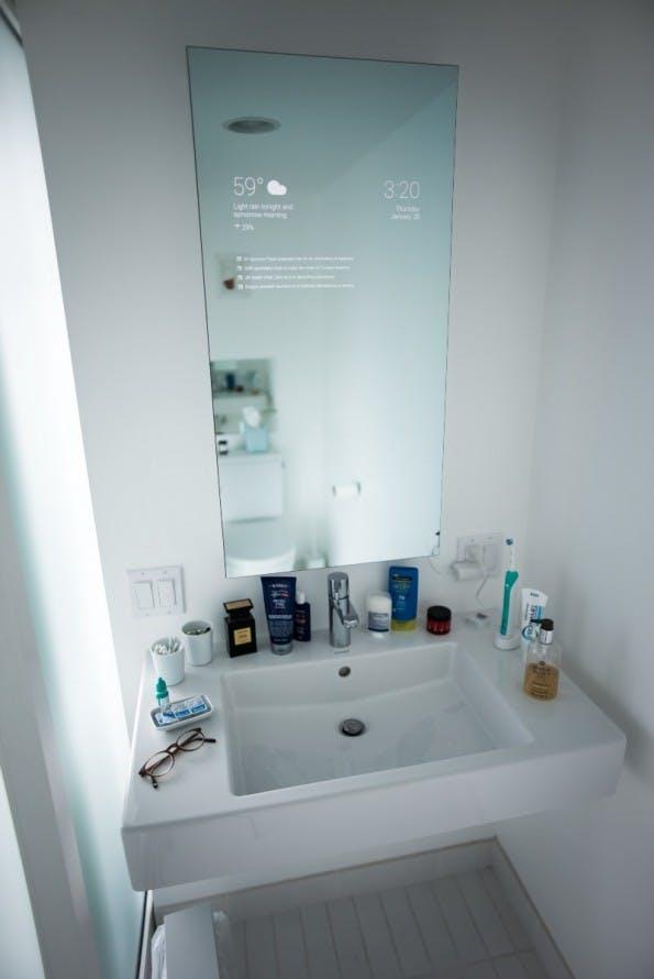 Smart Mirror mit Android (Bild: Max Braun)