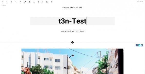 Mit Tilda erstellt ihr schnell fertige Webseiten. (Screenshot: tilda.cc)
