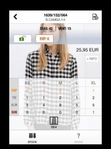 Die App erinnert bewusst an den eigenen Online-Shop. (Screenshot: Zara)