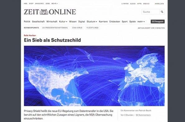 (Screenshot: Zeit Online)