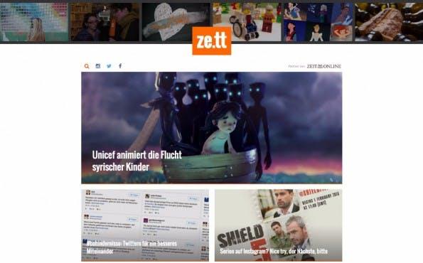 Platz für Experimente wie zum Beispiel mit Native Advertising hat Zeit Online bei ze.tt. (Screenshot: ze.tt)