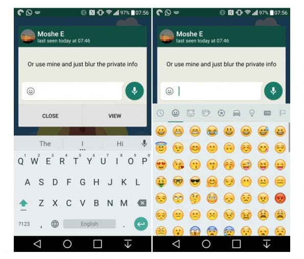 Quick Reply: Neue Funktion in der WhatsApp-Beta für Android. (Screenshot: AndroidPolice)