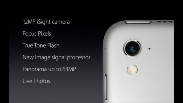 Die Kamera im neuen iPad Pro 9.7 ist baugleich mit der im iPhone SE. (Screenshot: Apple.com)