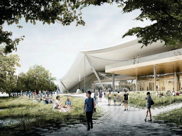 Renderbild des geplanten neuen Google Campus in Mountain View. (Bild: Google)