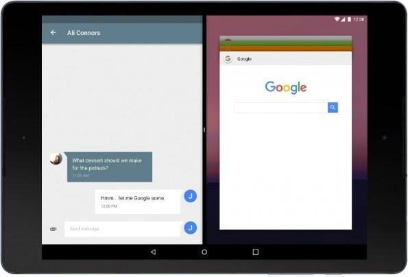 """Android 7.0 """"N"""" bringt endlich einen Multi-Window-Modus. (Bild: Ars Technica)"""