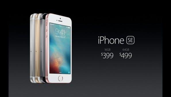 Das iPhone SE kostet ab 399 US-Dollar. (Screenshot: Apple)