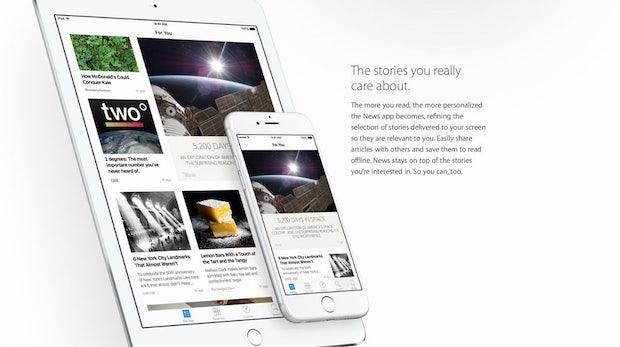 Apple öffnet seine News-App jetzt für alle Publisher und Blogger