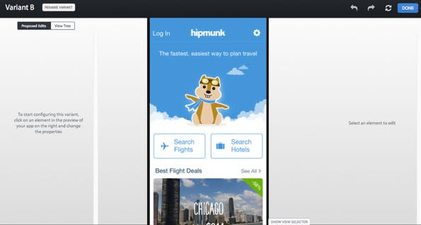 (Screenshot: apptimize.com)