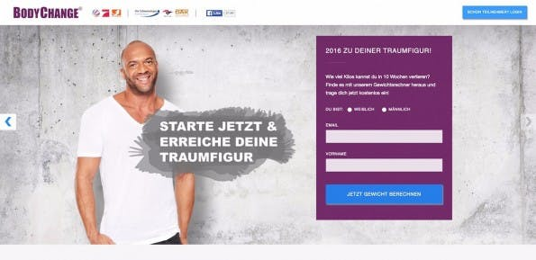 """SocialMedia Interactive ist vor allem für seine Marke """"BodyChange"""" bekannt. (Screenshot: imakeyousexy.com)"""