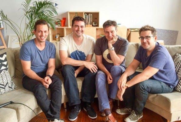 Die Culture-Amp-Gründer Rod Hamilton, Doug English, Didier Elzinga und Jon Williams (v.l.).