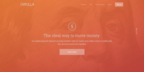 """The ideal way to move money"", verspricht Fintech-Startup Dwolla. (Screenshot: dwolla.com)"