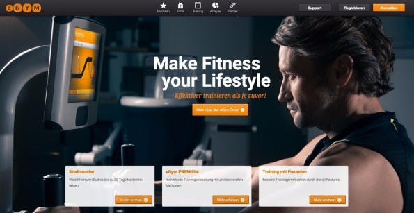 Riesen-Deal in München: Fitness-Startup eGym sammelt 45 Millionen Euro ein. (Screenshot: eGym)
