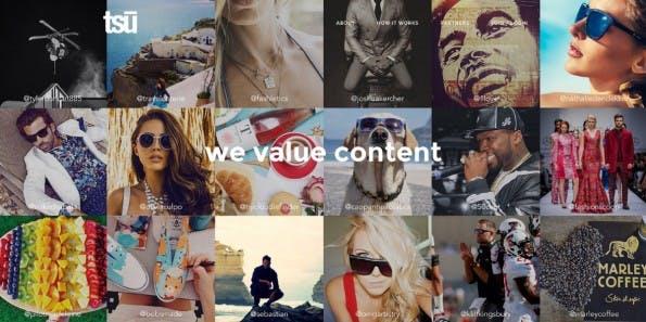Tsu gehört zu den Facebook-Alternativen, die den Nutzern Mehrwert bieten wollen – in diesem Fall durch Beteiligung an den Werbeeinnahmen. (Screenshot: Tsu.co)