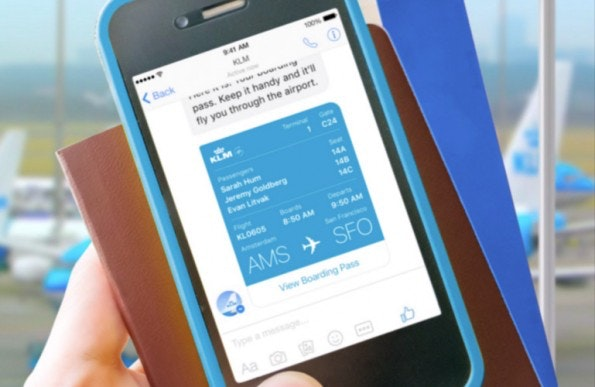 Chat-Bots sind deswegen derzeit so heiß, weil sie genau an der Schnittstelle zwischen Messaging und AI angesiedelt sind, also gleich zwei heiße Themen miteinander verbinden. (Foto: KLM)