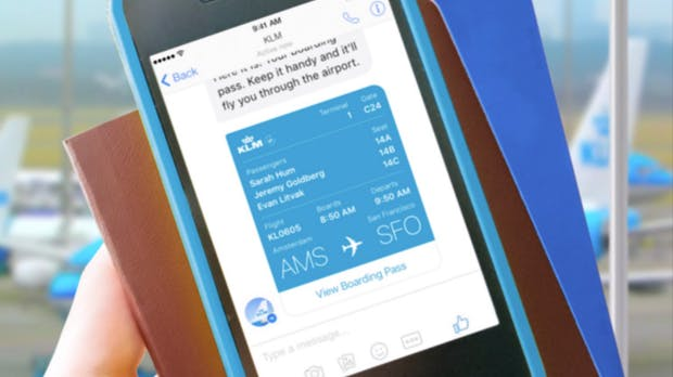 KLM zeigt dir jetzt Bordkarten und Flug-Updates im Facebook Messenger – und so sieht das aus