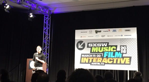 Gary Vaynerchuk auf der SXSW-Bühne. (Foto: t3n)
