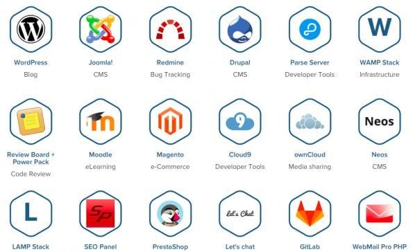 Cloud-Apps: GoDaddy kooperiert mit Bitnami. (Screenshot: bitnami.com)