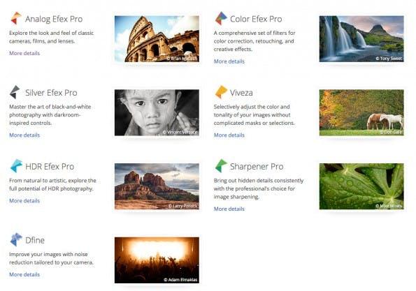 Für Photoshop, Lightroom und Aperture: Die Plugins der Nik Collection könnt ihr euch jetzt kostenfrei herunterladen. (Screenshot: google.com)