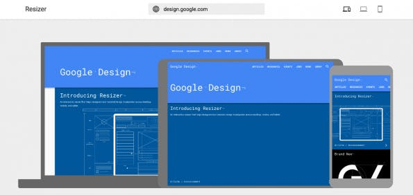 Google-Resizer in der Übersicht. (Screenshot: design.google.com/resizer)
