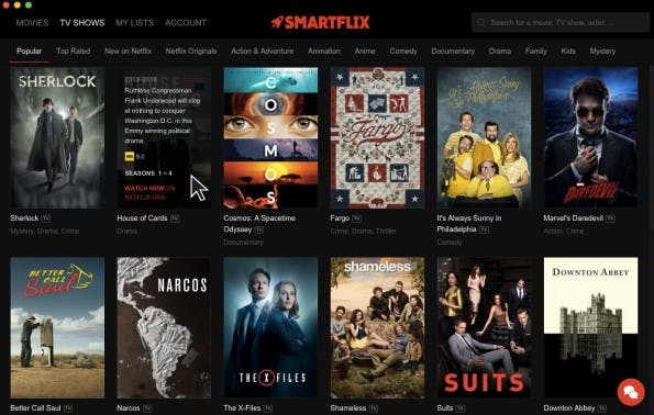 Die vierte Staffel von House of Cards lässt über Smartflix auch von Deutschland aus schauen. (Screenshot: Smartflix)