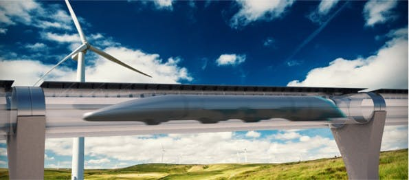Der Hyperloop könnte Augmented-Reality-Fenster bekommen. (Grafik: Hyperloop Transportation Technologies)