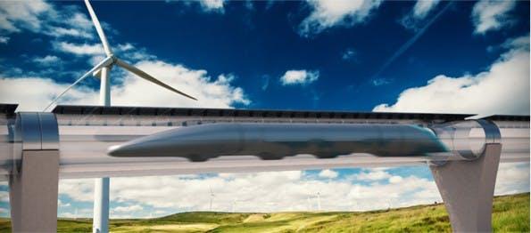 Der Hyperloop könnte Augmented-Reality-Fenster bekommen. (Grafik: Hyperloop Transportation Technologies)
