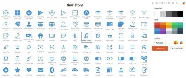 Wer Icons im Flatdesign benötigt, ist bei Icons 8 richtig. (Bild: Icons 8)