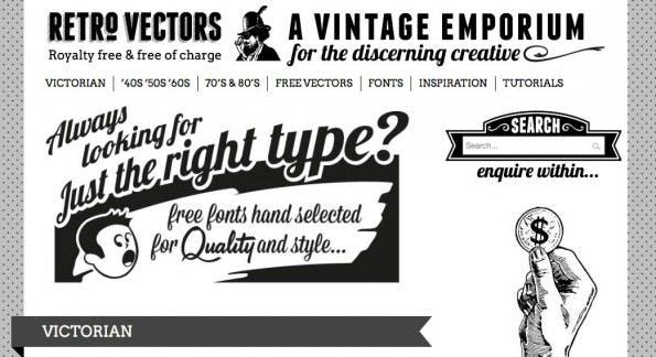 Vektorgrafiken aus den 40er bis 80er Jahren bietet Retro Vectors. (Bild: Retro Vectors)