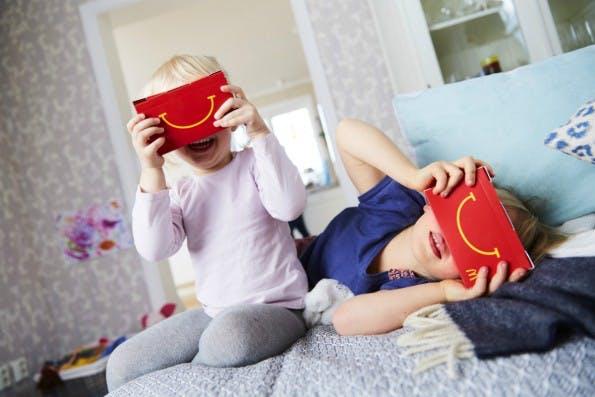 Als Zielgruppe für die VR-Brillen aus Karton hat sich McDonalds die kleine Kundschaft ausgesucht. (Foto: McDonalds)
