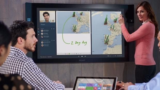 Surface Hub: Das hat Microsofts Konferenzsystem mit Whiteboard und Windows 10 auf dem Kasten