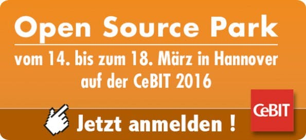 Der Open Source Park vereint Anbieter quelloffener Lösungen. (Grafik: Pluspol)