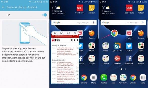 Einzelne Apps können in verkleinerter Ansicht auf dem Homescreen platziert werden. (Screenshot: t3n)