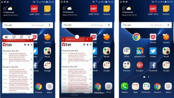 Apps lassen sich optional in Fenstern darstellen. (Screenshot: t3n) )