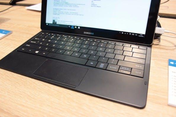 Das Keyboard ist Bestandteil des Lieferumfang des Samsung TabPro S. (Foto: t3n)