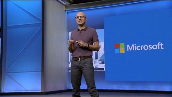 Microsoft-CEO Satya Nadella setzt auf Mobile First und Cloud First. (Foto: Microsoft)