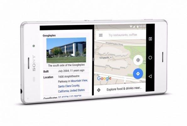 Auf dem Sony Xperia Z3 könnt ihr unter anderem auch den Multi-Window-Modus testen. (Bild: Sony)