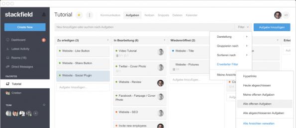 Stackfield – Clientseitige Verschlüsselung bietet Sicherheit (Screenshot: stackfield.com)