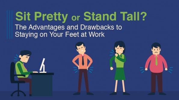Stehen oder sitzen? Das müsst ihr beachten. (Grafik: Quill.com)