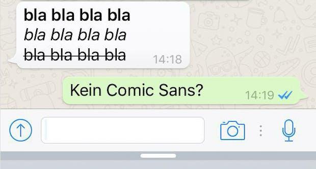 So kannst du Wörter in WhatsApp fett, kursiv und durchgestrichen posten