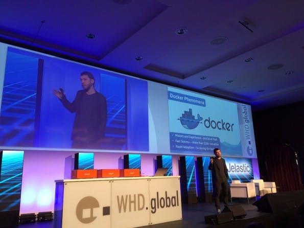 Ruslan Synytskys, CEO von Jelastic, hat auf den WHD.global über die Vorteile und Hürden von Docker gesprochen. (Foto: t3n)