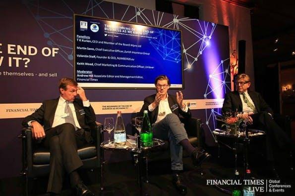 Auf Konferenzen rund um das Thema Banking und Fintech ist Valentin Stalf inzwischen ein gern gesehener Gast. (Foto: Valentin Stalf/Facebook)