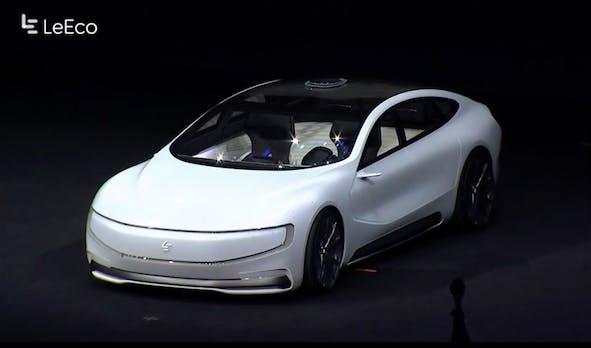 Angriff auf Tesla und Uber: LeEco stellt schickes selbstfahrendes Elektroauto vor