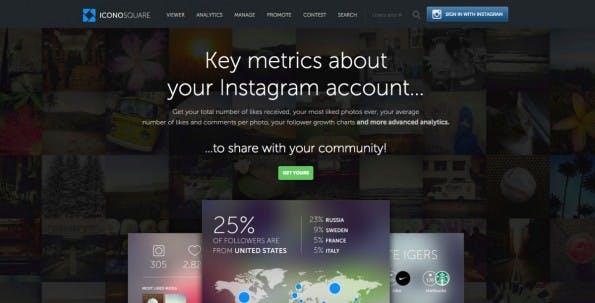 Monitoring- und Analytics-Tools für Instagram im Überblick – Iconosquare. (Screenshot: t3n.de)
