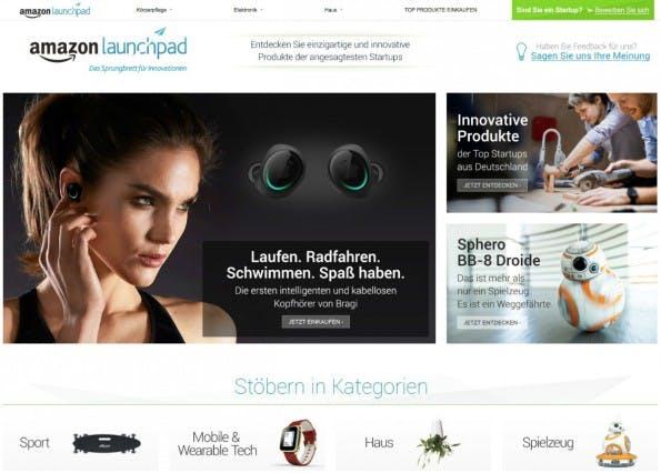 Launchpad: Amazon will deutschen Startups auf die Beine helfen. (Screenshot: Amazon/t3n.de)
