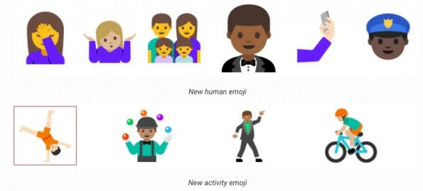 Android N hat Unicode-9-Emojis an Bord. (Bild: Google)