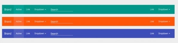Bootstrap-Navigation mit dem Material Design Theme. (Screenshot: Material-Design-Theme)