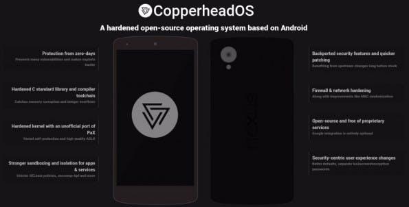 CopperheadOS: Der Android-Fork, der besonders sicher sein will. (Bild. Copperhead)