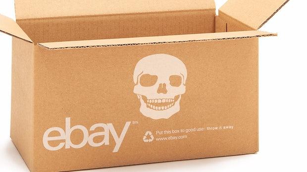 Händler, wenn ihr Selbstmord begehen wollt, kauft eBay-gebrandete Kartons